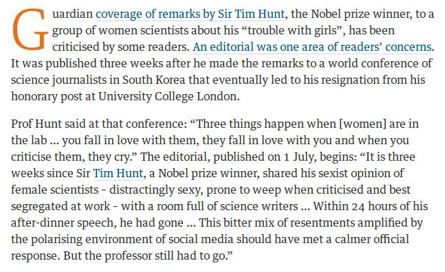 Guardian Tim Hunt 2