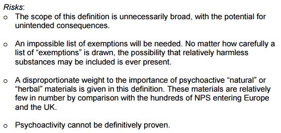 Psychoactive Substances Bill Letter
