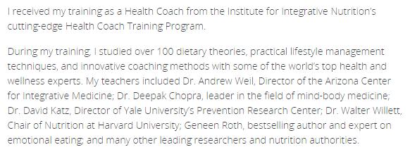 Institute of Integrative Nutrition Debra Klein