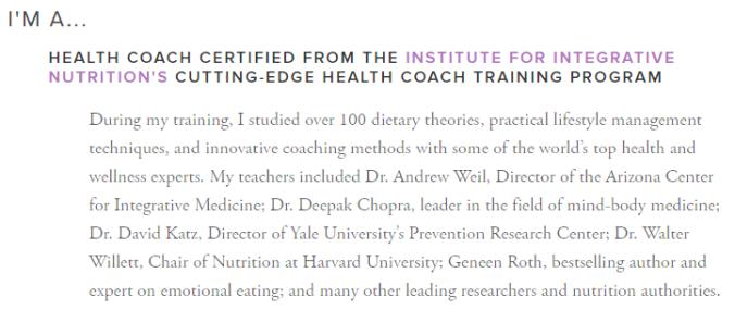 Institute of Integrative Nutrition Tara the Health Nut