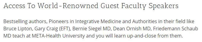 Meta-Medicine Tuition Dean Ornish MD