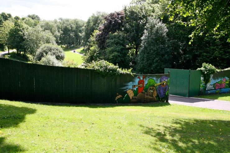 Gated entry, Alexandra Park, Belfast, Northern Ireland