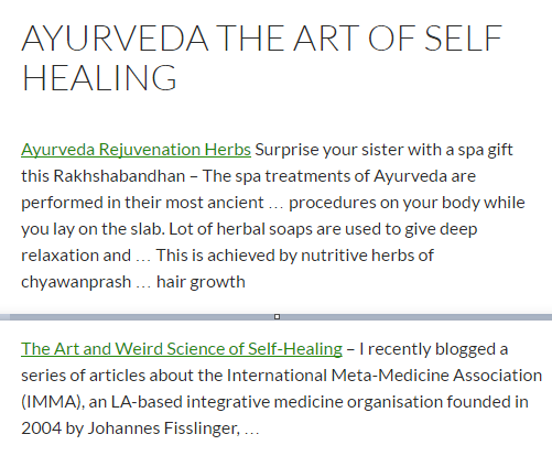 Ayurveda The Art of Self Healing