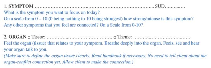 Meta-Health Therapy Script Session 1
