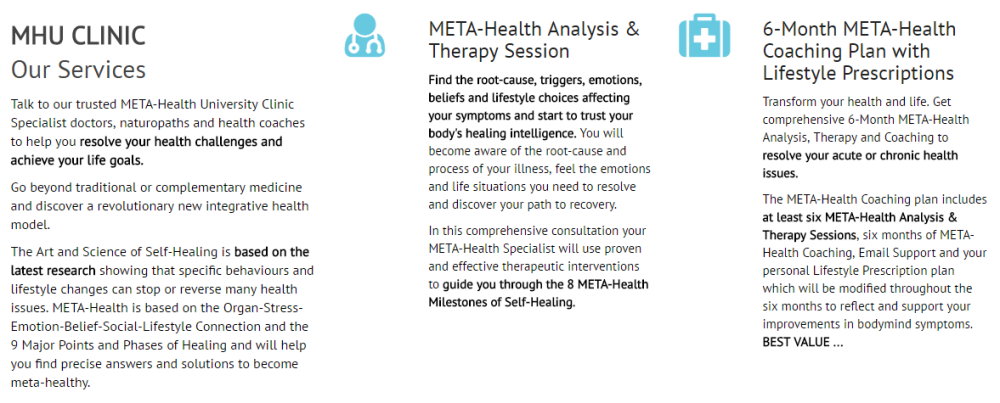 Meta-Health University Clinic Details