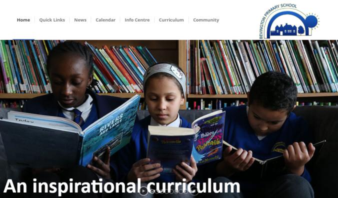 bevington-primary-school-website-screenshot