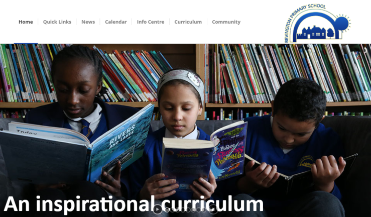 bevington-primary-school-website-screenshot